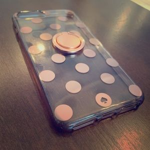 Kate Spade IPhone 7 Plus case with ring holder